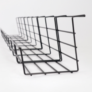 Kábeltálca fekete BeActive Állítható Asztalra szerelhető